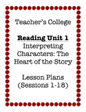 Teacher's College Grade 4 Unit 1 Reading Lesson Plans (all Bends)