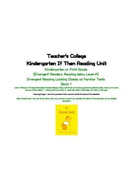 Teacher's College If Then Unit Kindergarten Lesson 2