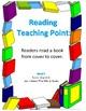 Teacher's College Kindergarten Reading Teaching Points