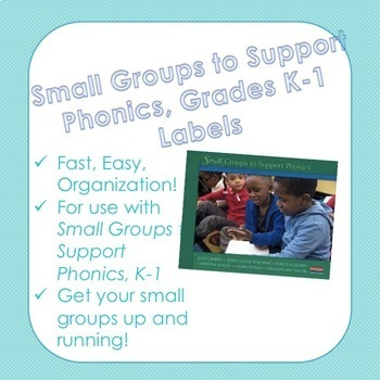 Teacher's College Phonics Small Group K-1 Labels