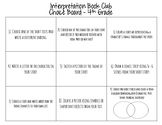 Interpretation Book Club Choice Board Activities