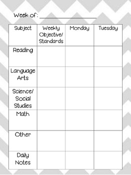 Teacher's Daily Planner