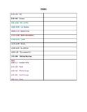 Teacher's Daily & Weekly Schedule
