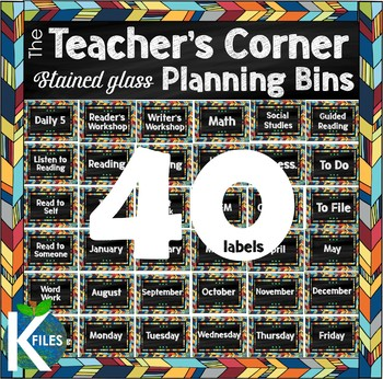 Teacher's Desk Planning Bin/Basket Labels