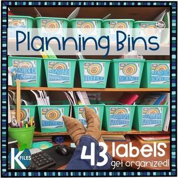 Teacher's Desk Planning Bin/Basket Labels: Decor Pack