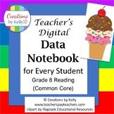 Teacher's Digital Data Tracker for Every Student, Grade 8 Reading