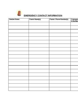 Teacher's Emergency Go-Bag Starter