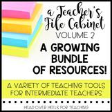 Teacher's File Cabinet Volume 2 {A Growing Bundle of Teach