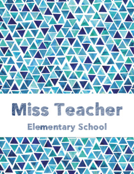 Teacher's Grade Book - editable
