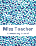 Teacher's Grade Book - editable