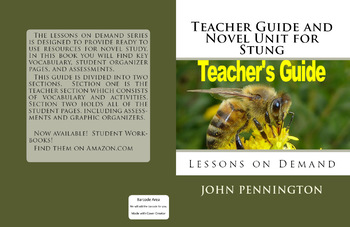 Teacher's Guide and Novel Unit for Stung Bethany Wiggins