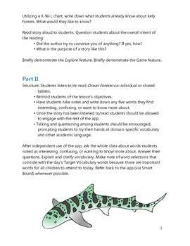 Teacher's Guide for Ocean Forests