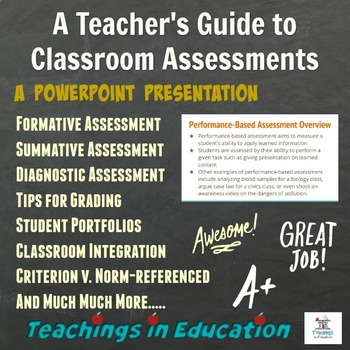 Teacher's Guide to Assessments