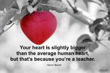 Teacher's Heart Poster