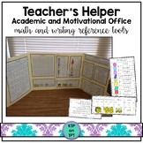 Teacher's Helper Academic & Motivational Office (math & writing reference tools)