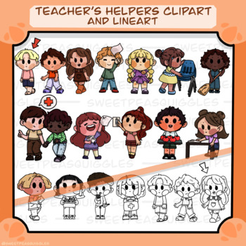 Teacher's Helpers Clipart and Lineart