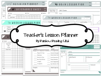 Teacher's Lesson Planner