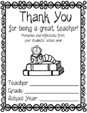 Teacher's Memory Book - Thank you gift TO teachers