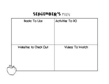 Teacher's Monthly Planning Pages