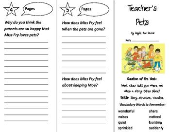 Teacher's Pets Trifold - Journeys 2nd Grade Unit 1 Week 5 (2011)