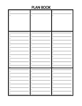 Teacher's Plan Book