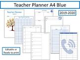 Teacher Planner 2019-2020 fully editable A4