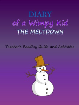 Diary Of A Wimpy Kid Meltdown Activity Worksheets Tpt
