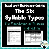 Teacher's Resource Guide:  The Six Syllable Types
