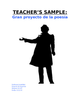 Teacher's Sample: Neruda Poetry Project Template (3 Original Poems)