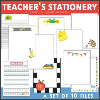 Teacher's Stationery Set of 10