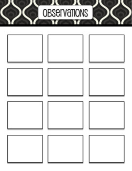 Teacher's Sticky Note Planning Pages (B&W)