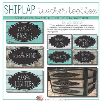 Teacher Toolbox - Distressed Wood & Teal