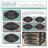 Teacher Toolbox - Shiplap Teal Wood