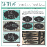 Teacher Toolbox - Distressed Wood & Teal