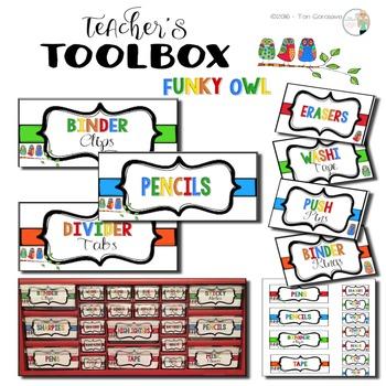 Teacher's Toolbox - Funky Owl {Dollar Deals}