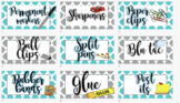 Teacher's Toolbox Labels Editable! Resource labels grey an