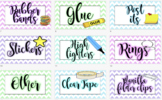 Teacher's Toolbox Labels Editable! Stationary Resource Lab