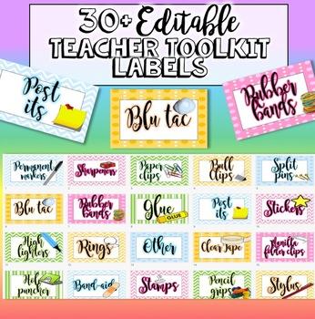 Teacher's Toolbox Labels Editable - resource labels