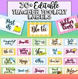 Teacher's Toolbox Labels Editable - resource labels