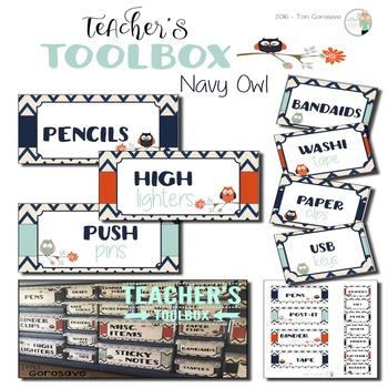 Teacher's Toolbox - Navy Owl {Dollar Deals}