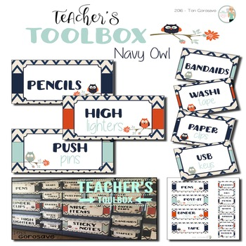 Teacher's Toolbox - Navy Owl {Dollar Deals}