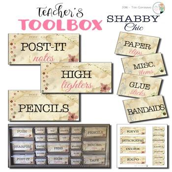 Teacher's Toolbox - Shabby Chic {Dollar Deals}