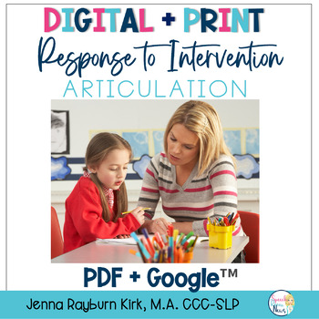 Teacher's Toolkit for Response to Intervention: Articulation