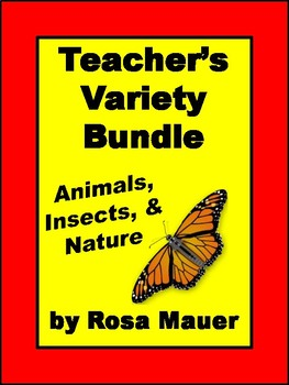 Teacher's Variety Bundle Animals, Insects, and Nature