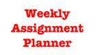Teacher's Weekly Assignment Editable Planner