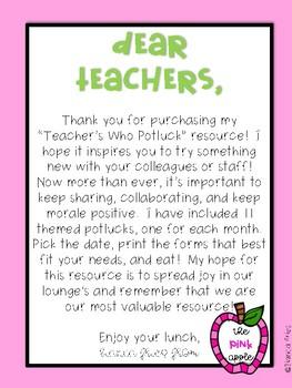 Teacher's Who Potluck