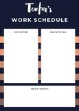 Teacher's Work Schedule- Planner