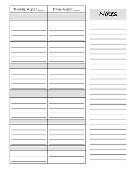 Teacher's agenda 2017-2018