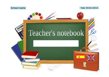 Teacher's notebook cover