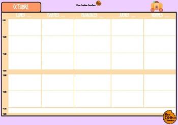 Teacher's planner - Cuaderno del profe